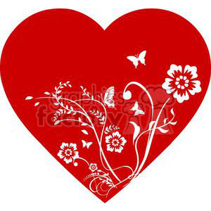 floral heart clipart. Commercial use image # 381705