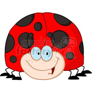 4137-LadyBird-Cartoon-Character clipart. Royalty-free image # 381952