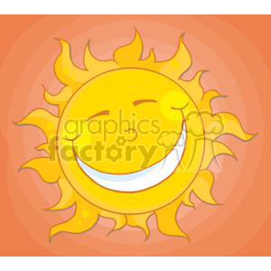 4062-Happy-Smiling-Sun-Mascot-Cartoon-Character clipart. Royalty-free image # 381962
