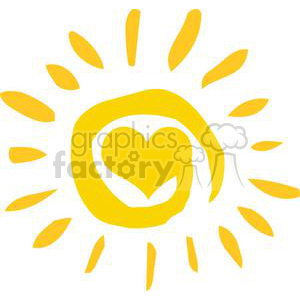 4065-Abstract-Sun-With-Heart animation. Royalty-free animation # 381967