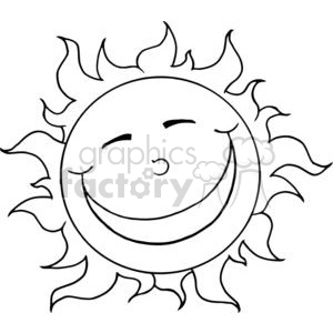 black and white sun clipart. Royalty-free image # 381997