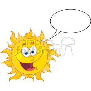 sun with speech bubble clipart. Commercial use image # 382002