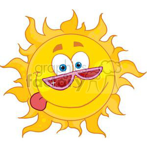 4036-Happy-Sun-Mascot-Cartoon-Character-With-Shades clipart. Royalty-free image # 382027