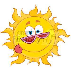 cartoon funny sun shunshine summer spring silly