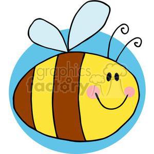 clipart - 4118-Fflying-Bee-Cartoon-Character.