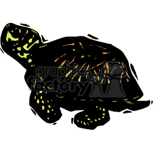 box turtle clipart. Royalty-free image # 133777