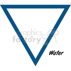 water symbol clipart. Commercial use image # 384803