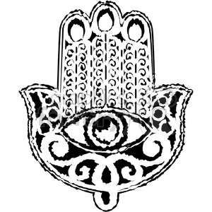 Hand of Fatima sketch clipart. Commercial use image # 384833
