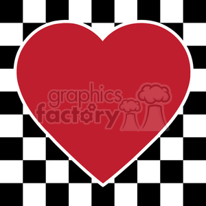checkerboard heart design 002