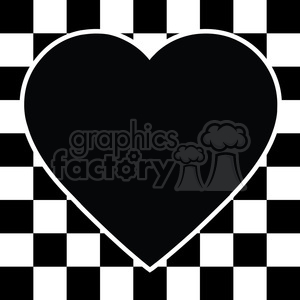 checkerboard heart design 001 clipart. Commercial use image # 384873