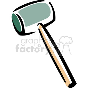 rubber mallet clipart. Commercial use image # 384915