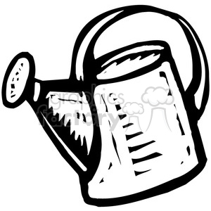 black and white watering can clipart. Royalty-free image # 384935
