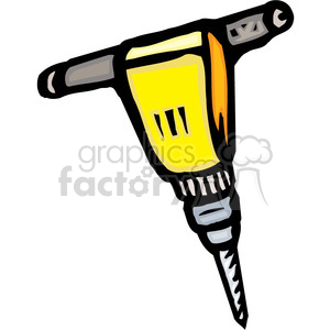 yellow jackhammer clipart. Royalty-free image # 384965