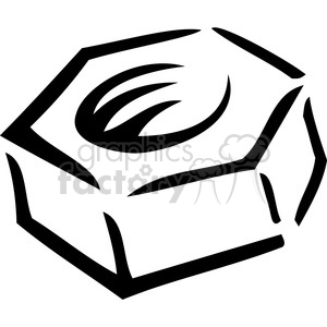 black and white nut clipart. Royalty-free image # 385015