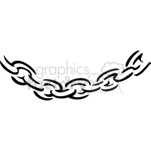 black and white chain drawing clipart. Commercial use image # 385035