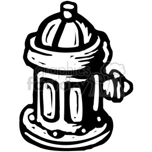 black and white fire hydrant clipart. Commercial use image # 385045