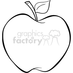 cartoon vector illustration apple fruit food outline