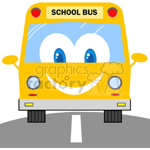 School Bus Cartoon Mascot Character clipart. Royalty-free image # 385295