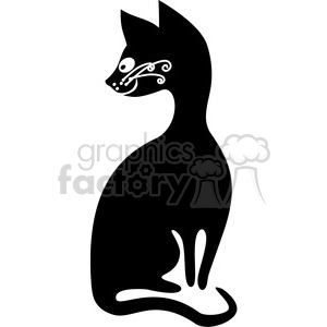 vector clip art illustration of black cat 088 clipart. Royalty-free image # 385335