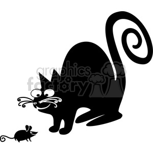 vector clip art illustration of black cat 049 clipart. Royalty-free image # 385355
