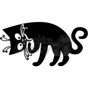 vector clip art illustration of black cat 011 clipart. Royalty-free image # 385365