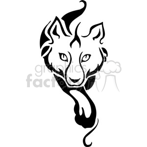 vector black+white animals wild outline vinyl-ready husky wolf dog tattoo