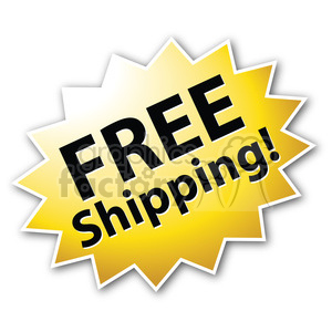 free shipping star burst icon clipart. Royalty-free image # 385505