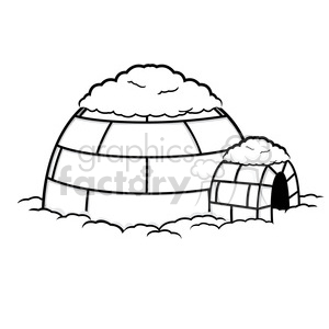 vector igloo 004 clipart. Royalty-free image # 385525