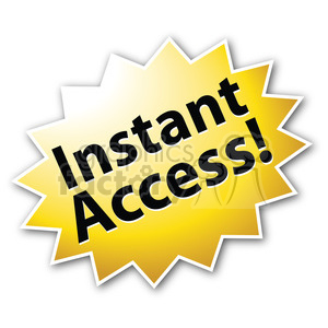 instant access star burst icon clipart. Commercial use image # 385565