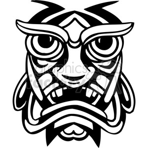 ancient tiki face masks clip art 023 clipart. Royalty-free image # 385822