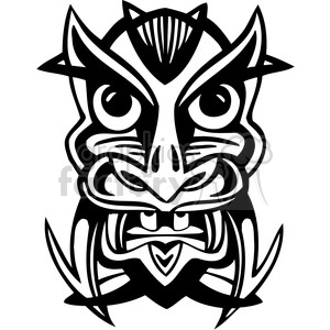 ancient tiki face masks clip art 021 clipart. Royalty-free image # 385831