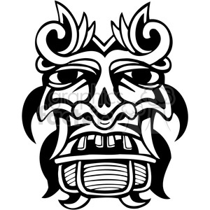 ancient tiki face masks clip art 037 clipart. Royalty-free image # 385840