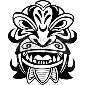ancient tiki face masks clip art 008 clipart. Royalty-free image # 385849