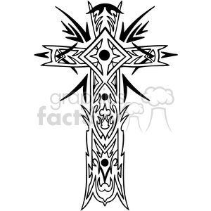 cross clip art tattoo illustrations 012