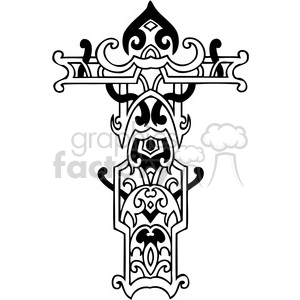 cross clip art tattoo illustrations 033 clipart. Royalty-free image # 385886