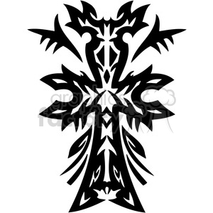 cross clip art tattoo illustrations 006 clipart. Royalty-free image # 385896