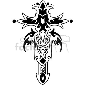 cross clip art tattoo design clipart. Royalty-free image # 385906