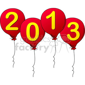 2013 Graphics For New Years clipart. Royalty-free image # 385968