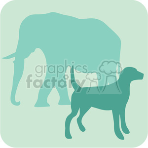 animal dog elephant 087 clipart. Royalty-free image # 386080