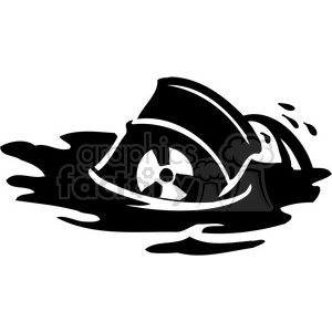 eco environment illustration logo symbols elements earth dangerous oil spill pollution black+white water polluting container