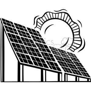 solar panels clipart. Commercial use image # 386160