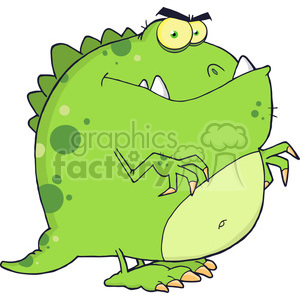 5094-Dinosaur-Cartoon-Character-Royalty-Free-RF-Clipart-Image clipart. Commercial use image # 386219