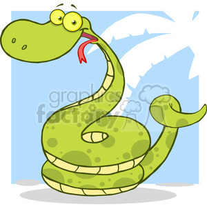 5147-Happy-Snake-Cartoon-Character-Royalty-Free-RF-Clipart-Image clipart. Commercial use image # 386259