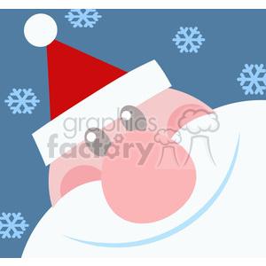 5152-Santa-Head-Royalty-Free-RF-Clipart-Image clipart. Royalty-free image # 386339