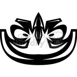 tribal masks vinyl ready art 020 clipart. Royalty-free image # 386399