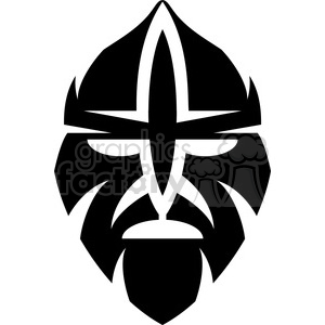 tribal masks vinyl ready art 049 clipart. Royalty-free image # 386419