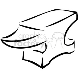 black and white cartoon anvil clipart. Royalty-free image # 386435