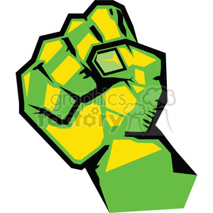 clenched fist clipart. Royalty-free image # 386445