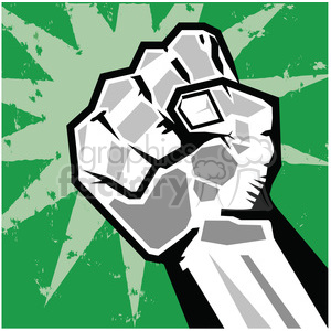 fist rebellion uprising insurrection illustration art green clipart. Royalty-free image # 386455