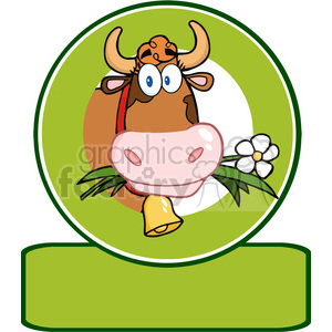 Dairy Cow Cartoon Logo Mascot clipart. Commercial use image # 386475